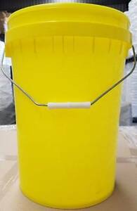 20lt plastic bucket with lid, bucket , pail, container, Yellow Rocklea Brisbane South West Preview