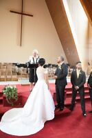 Wedding officiant, licensed,$130.00 wedding/signing/office/venue