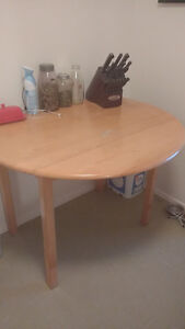 Maple Drop-Leaf Dining Table