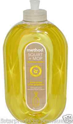 NEW METHOD SQUIRT+MOP HARD FLOOR CLEANER LEMON GINGER HOUSEHOLD NON-TOXIC CARE