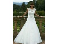 Romantica A-Line Ivory Wedding Dress 8/10 Lace Tulle