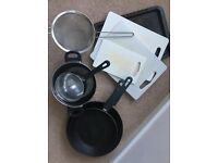 KITCHEN SET secondhand - plates, cutlery, crockery, glasses, saucepans, frypans, utensils etc