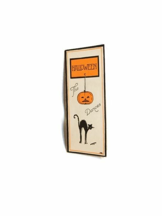 Vintage Halloween Dance Card Filled In