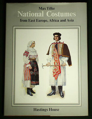BOOK Max Tilke Folk Costumes Europe Africa Asia clothing pattern Slavic Ottoman