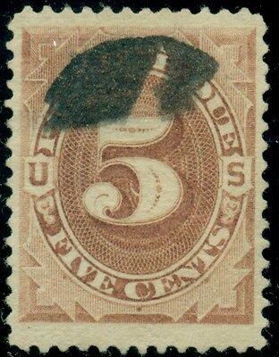 US #J4 5¢ brown, used, JUMBO stamp, VF