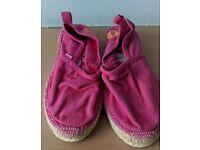 Pink Superdry Espadrilles size 4