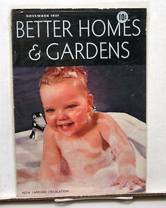 Nov 1937 Better Homes Gardens Vintage Magazine Great Ads