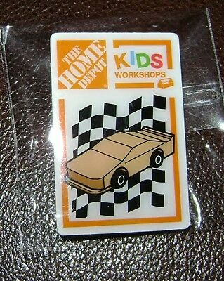 NEW THE HOME DEPOT KIDS WORKSHOP RACE CAR PIN COLLECTIBLE RARE