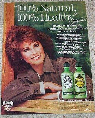 1983 ad page - STEFANIE POWERS hair Nature's Organics vintage Print ADVERT