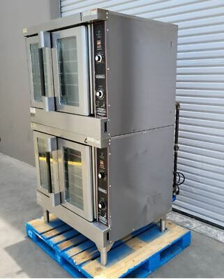 Used Hobart Hgc5 Double Gas Convection Oven 10 Racks