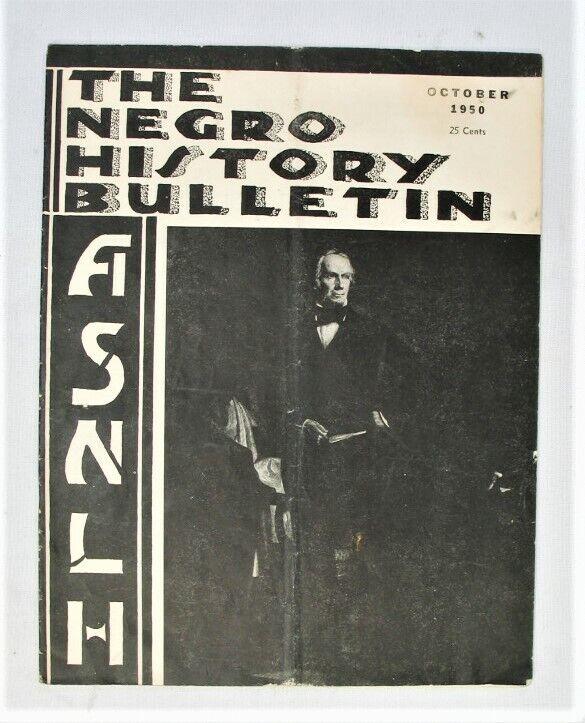 Vintage Magazine - The Negro History Bulletin - ASNLH -- Oct. 1950
