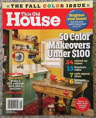 This Old House 50 Color Makeovers Under  100 September 2015 Free Shipping