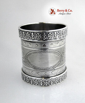 Coin Silver Large Napkin Ring 1870