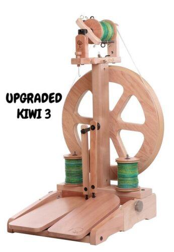 Ashford Kiwi 3 Folding Spinning Wheel OR add option Super Flyer Spin Bulky Yarns