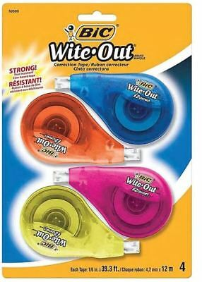 Bic Wite-out Brand Ez Correct Correction Tape 4pack