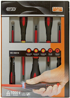 BAHCO ERGO BE-9881S 5pce 1000V VDE SCREWDRIVER SET – PHILL
