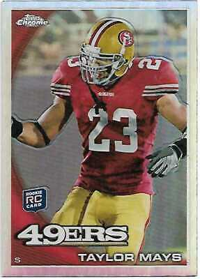 2010 Topps Chrome NFL Refractor C31 Taylor Mays