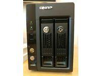 QNAP TurboNAS TS-259 Pro+ NAS with 4TB storage - 2x 2TB WD Green HDDs