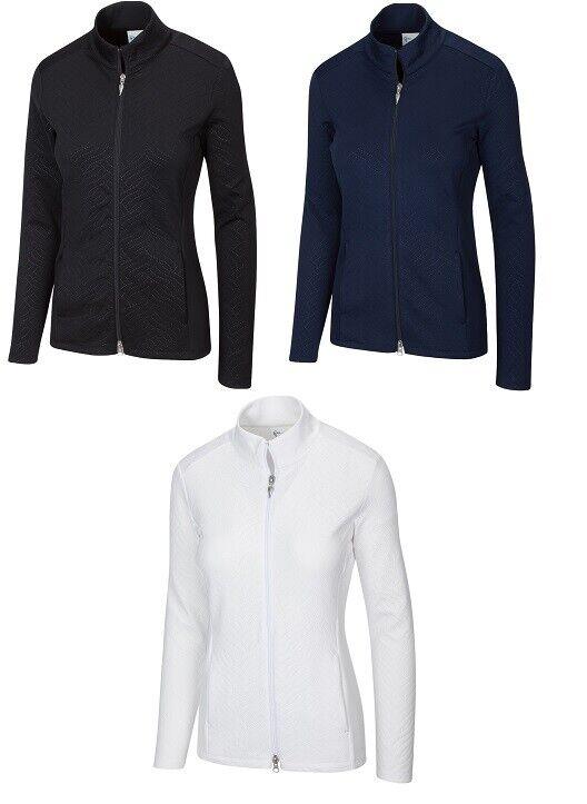 Greg Norman Womens Embossed Scuba Golf Jacket G2S21J461 - New 2021