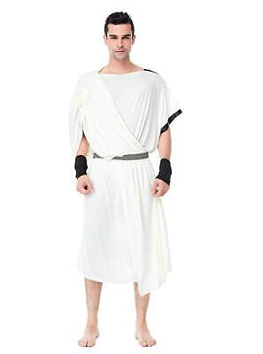 Roman Halloween Costumes Men (Toga Costume Mens Roman Greek God Costumes for Halloween Party 3 Pieces)