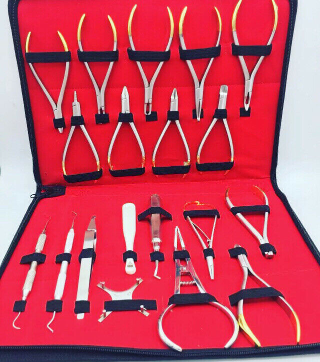 Orthodontic Pliers Instrument Kit Distal End Cutter Weingart Bracket Adam Dental