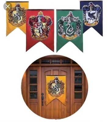 Harry Potter Hogwarts School House Banners Set of Four Flags