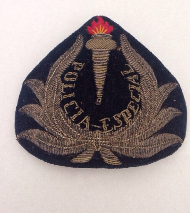 Especial Policia Epaulettes / Hat Pin Patch WWIi. 1940