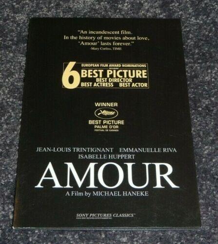 Rare AMOUR Promo Pressbook Press Photo Booklet Michael Haneke Isabelle Huppert