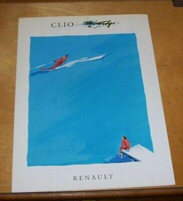 THE RENAULT CLIO FIDJI SALES BROCHURE Juillet 1993 In French
