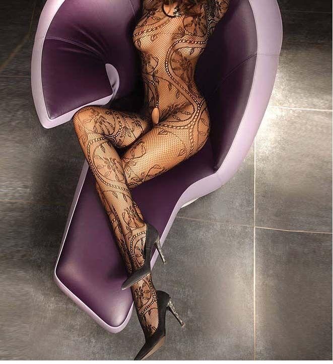 Sexy Dame Netz - Body Stocking - Reizwäsche Dessous - (in 3 Farben)