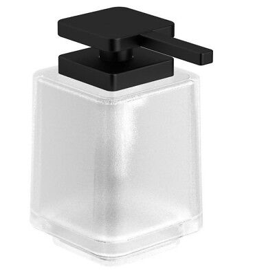 Milli GLANCE SOAP DISPENSER WITH PUMP 350ml Capacity, Frosted Glass, Matte Black