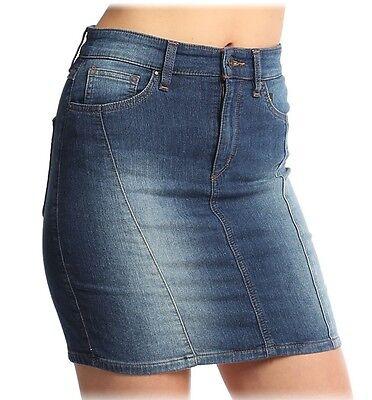 Nwt $69 GUESS Indigo French Terry Stretch Denim Mini Skirt ~Passion Flower 2 *29
