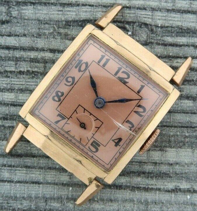 Vintage Monarch 7 Jewel Manual Wind Men s Watch Art Deco 10k RGP Bezel - $25.00