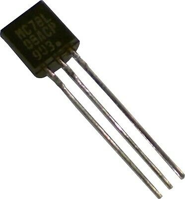 Lot Of 5 Voltage Regulator 8v 100ma To92 Mc78l08acpg 7808 78l08
