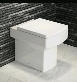 Square white toilet