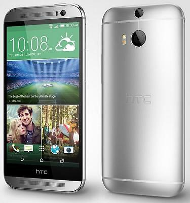 NEW HTC One M8 32GB Silver GSM Unlocked Android 4G LTE Smartphone With Extras