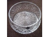 """Collectible Edinburgh Crystal 8"""" Iona Footed Bowl - Boxed"""