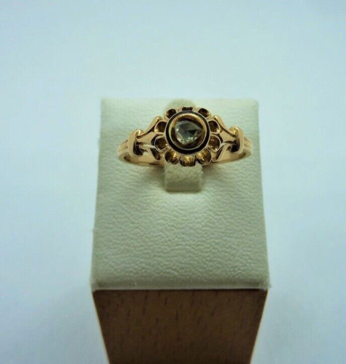 Antique Victorian 18k Gold Diamond Ring Size 8