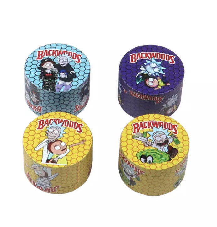 Rick and Morty Herb Grinder Backwoods 50mm_Fully Wrapped_New