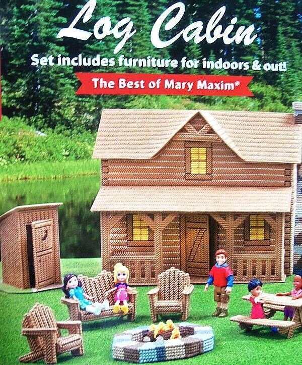 Plastic Canvas Log Cabin Set  Diagrams  Best Of Mary Maxim  Leisure Arts
