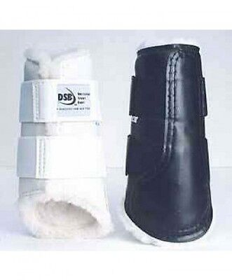 DSB Original Dressage Sport Boots - Large Pair - White with White Fleece Lining