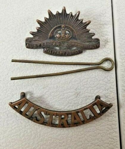 VINTAGE WW2 ISSUE AUSTRALIA AUSTRALIAN PIN FROM A SLOUCH HAT  17. 41D