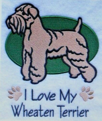 Love My Wheaten Terrier Dog Embroidered Personalized Tee Shirt ALL SIZES