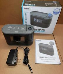HoMedics Soundspa Recharged Sleep Solutions Projection Alarm Clock Sound Machine