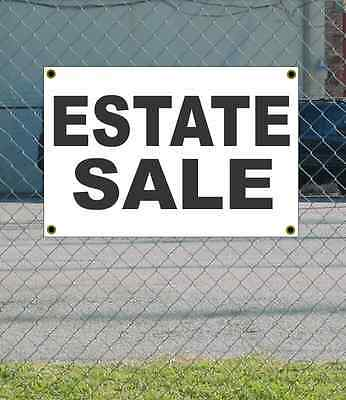 2x3 Estate Sale Black White Banner Sign New Discount Size Price Free Ship