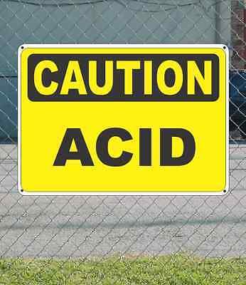 """CAUTION Acid - OSHA Safety SIGN 10"""" x 14"""""""