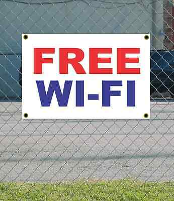 2x3 Free Wi-fi Red White Blue Banner Sign New Discount Size Price