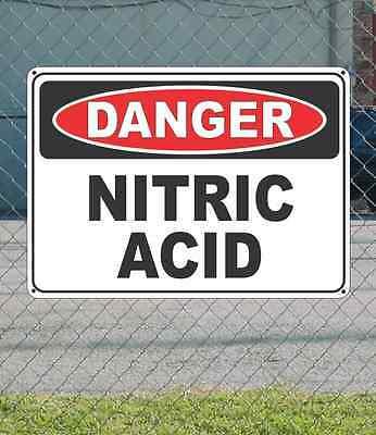 Danger Nitric Acid - Osha Safety Sign 10 X 14