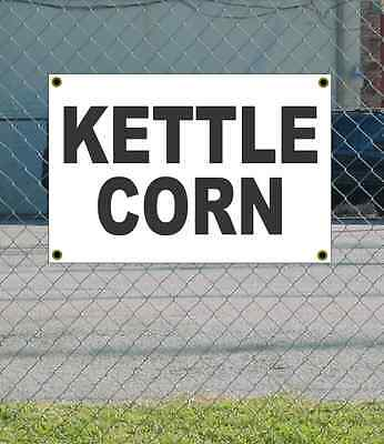 2x3 Kettle Corn Black White Banner Sign New Discount Size Price Free Ship