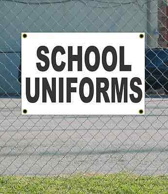2x3 SCHOOL UNIFORMS Black & White Banner Sign NEW Discount Size & Price